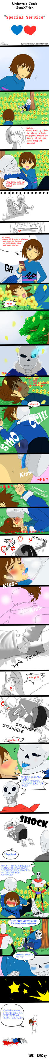 Undertale Comic SansxFrisk: SPECIAL SERVICE by vanillaxbiscuit