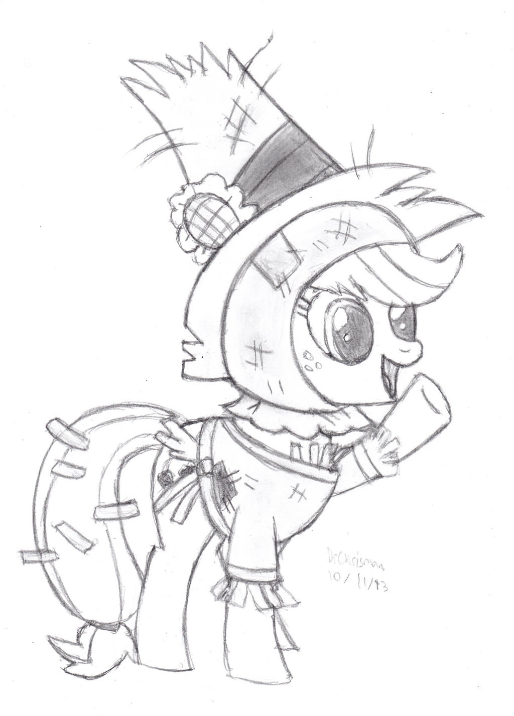 Scarecrow Applejack by DrChrisman