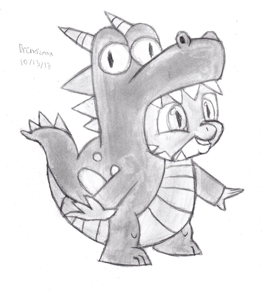 Spike's Dragon Costume by DrChrisman