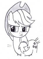Stubborn Pouty Applejack by DrChrisman