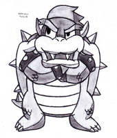 Arms Crossed Paper Bowser by DrChrisman