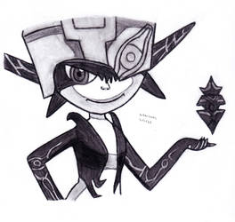 Midna with the Shadow Crystal