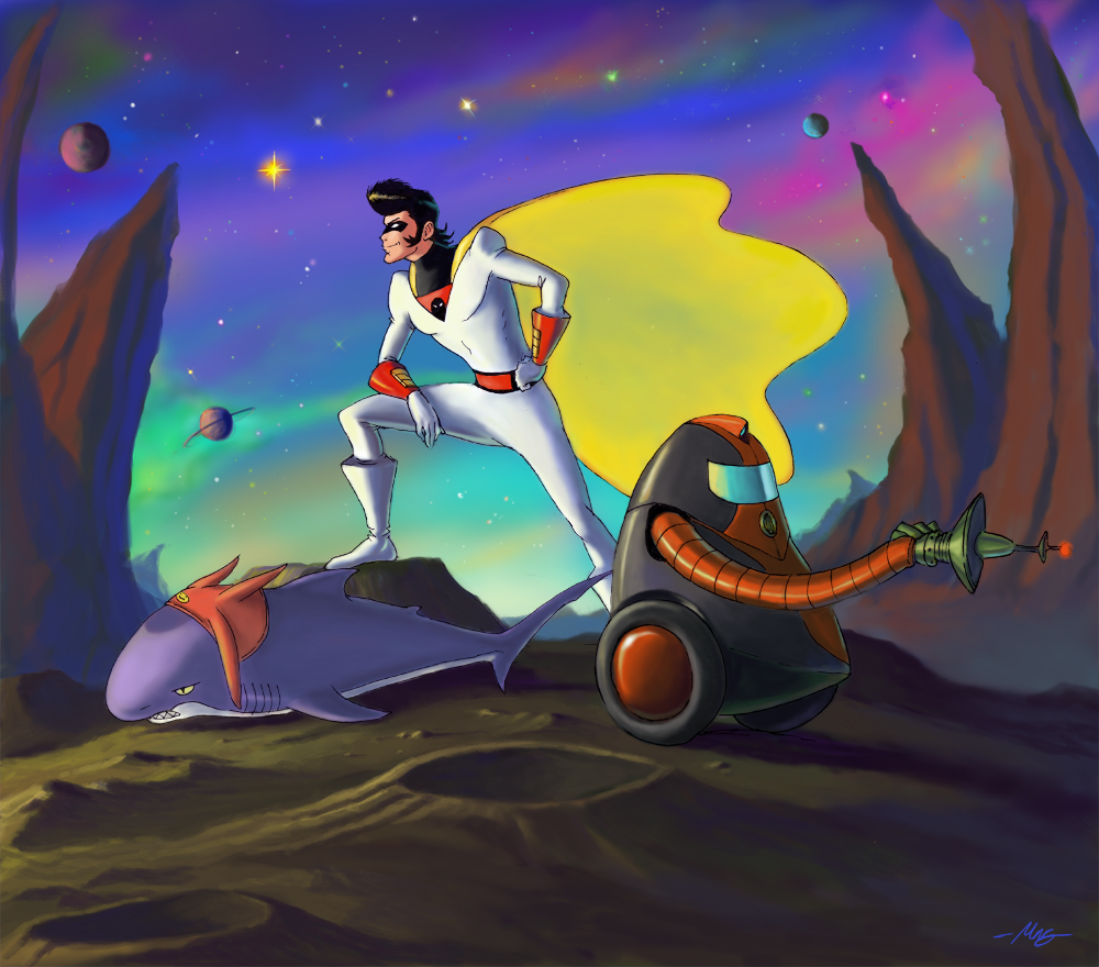 Space Ghost Dandy by viperxmns