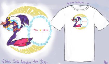 NiGHTS 20th Anniversary Shirt Design by viperxmns