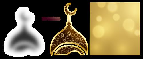 Golden eid mubarak by Gazlan-Sahmeiy