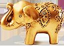 gold elephant frame by Gazlan-Sahmeiy