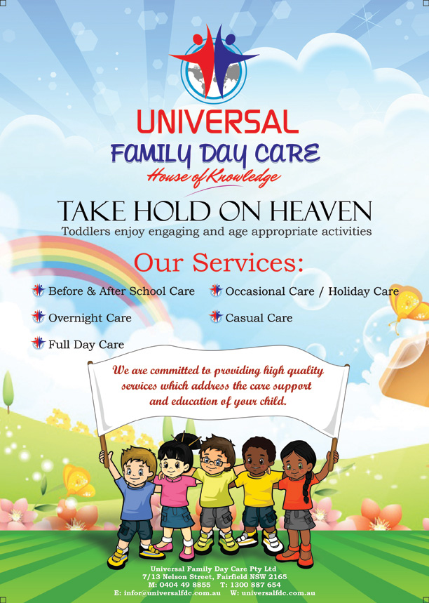 Open Day Flyer For Child Care