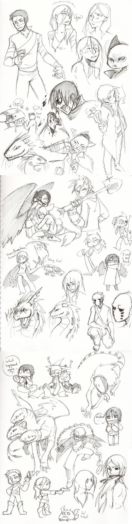 Firewind Pen Doodle Dump by Kiqo7