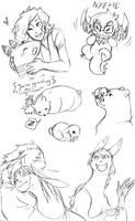 Few Little Fan Doodles