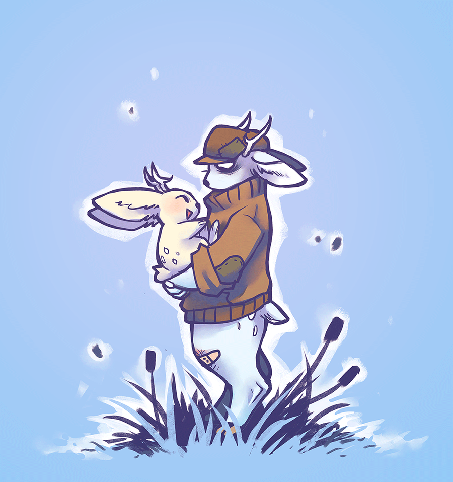 Jackalope buds by Kiqo7