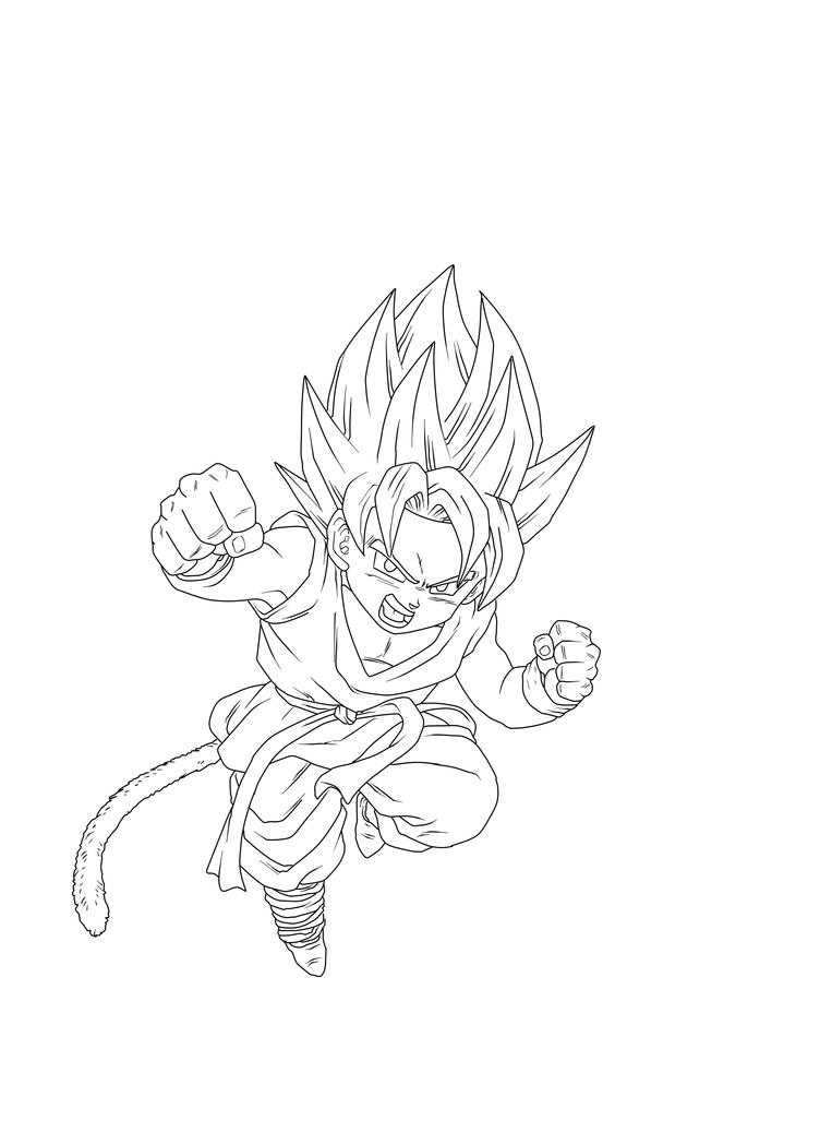 Ssj kid goku by jbro20 on deviantart for Kid goku coloring pages