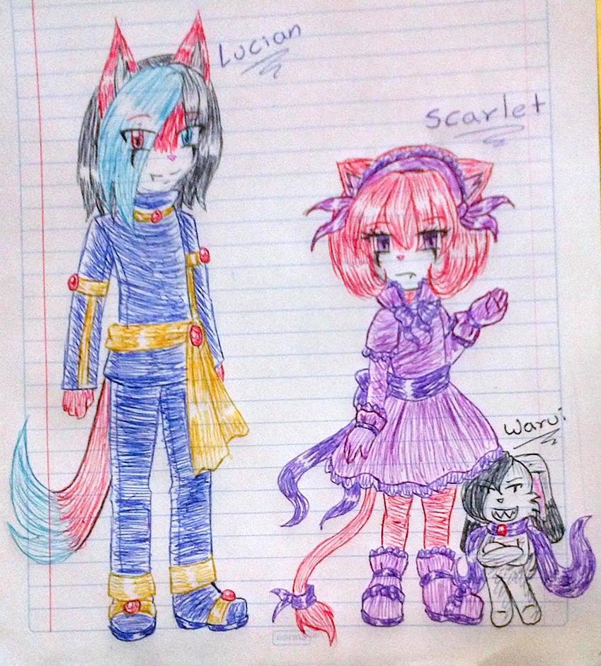 Lucian Darian y Scarlet Carmesi by Yuki-Akemi