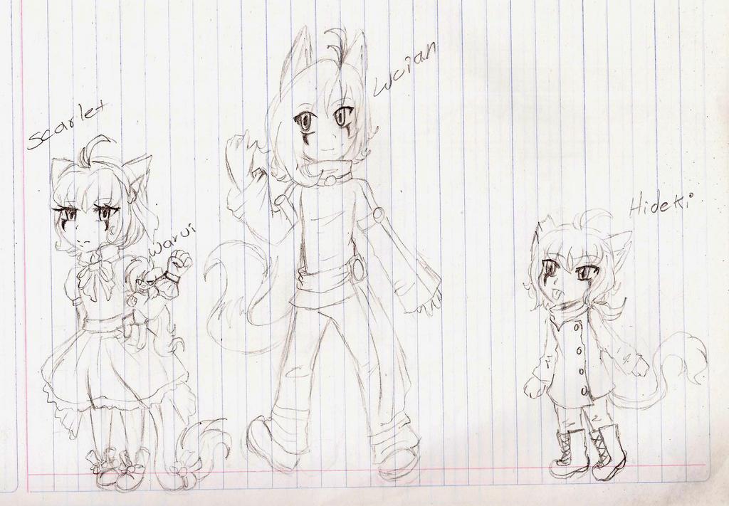 Los tres mocosos de la Yuki e3e by Yuki-Akemi