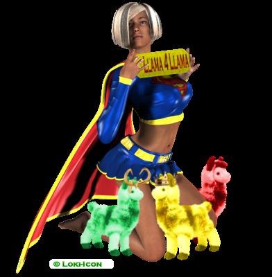 SuperGirl Llama 4 Llama by Loki-Icon
