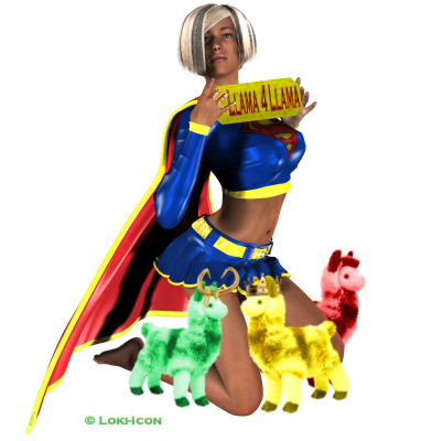 SuperGirl Llama 4 Llama by Loki-Icon