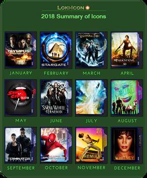Loki-Icon 2018 summary of icons