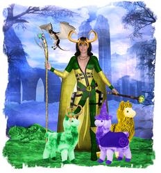 Loki and Llama Herd