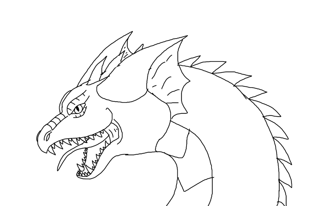 Line Art Dragon : Dragon line art by pitthekidicarus on deviantart