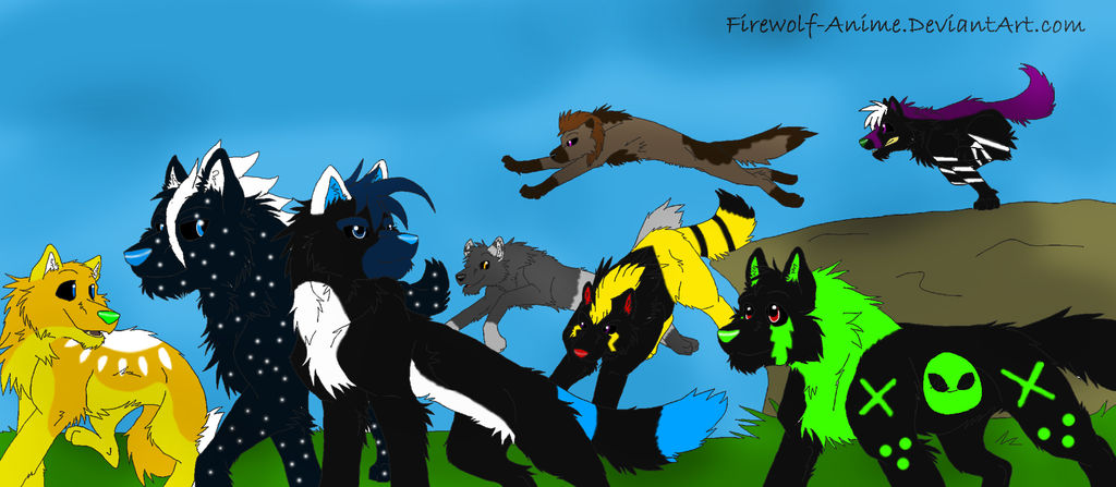 The Elemental Wolves by PittheKidIcarus on DeviantArt