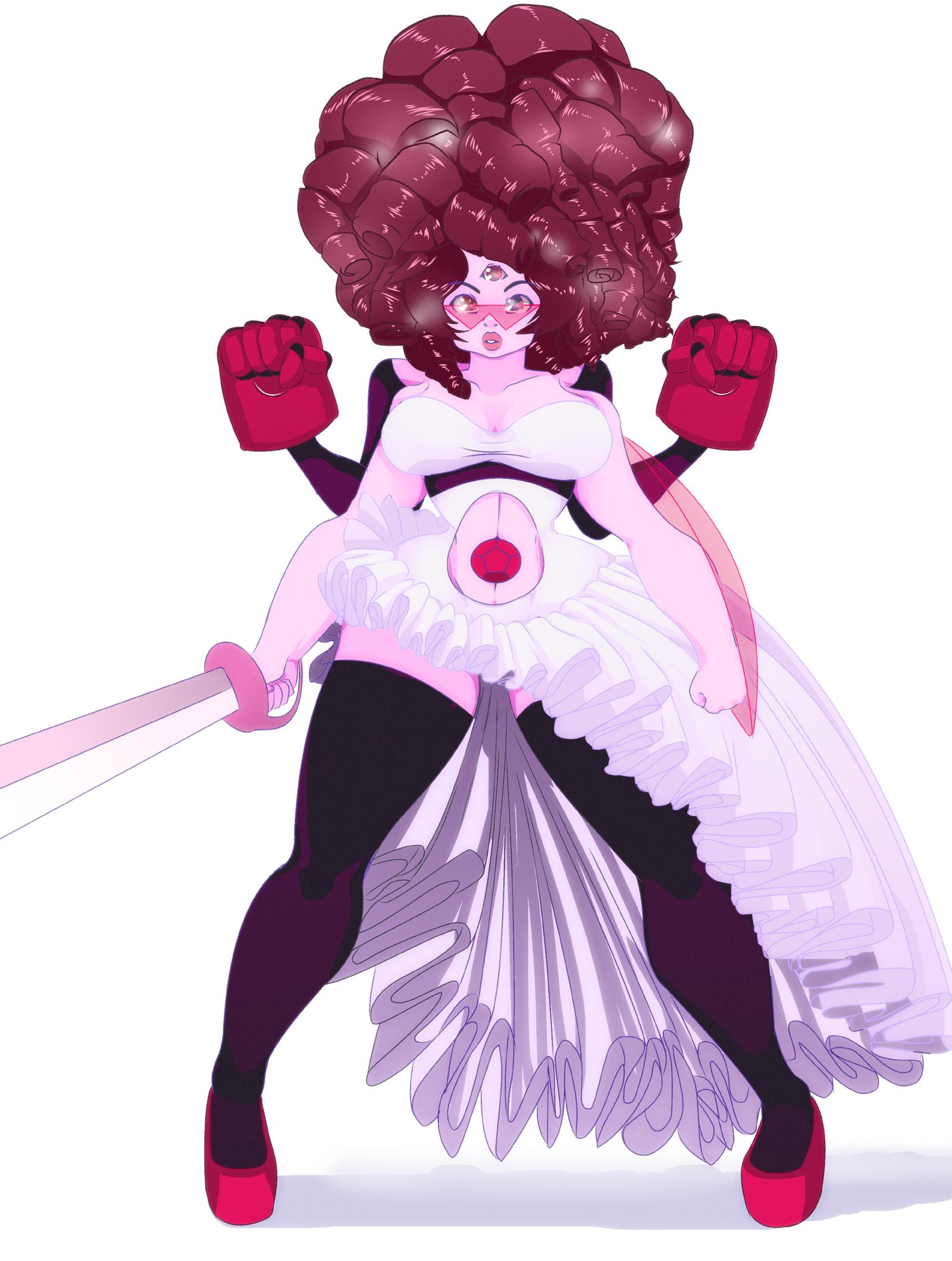 Garnet And Rose Quartz Fusion - Steven Universe by WaiiTakoRose Quartz Steven Universe