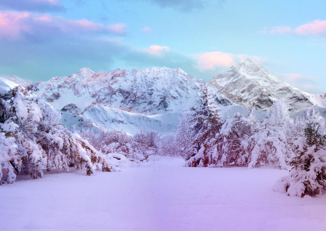 Winter landscape challenge stock by aseamlessbonds on - Winter tumblr wallpaper ...