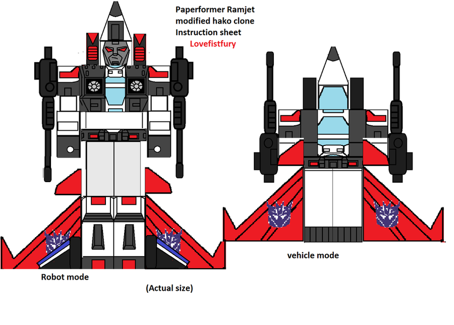 paperformer ramjet instruction sheet by lovefistfury