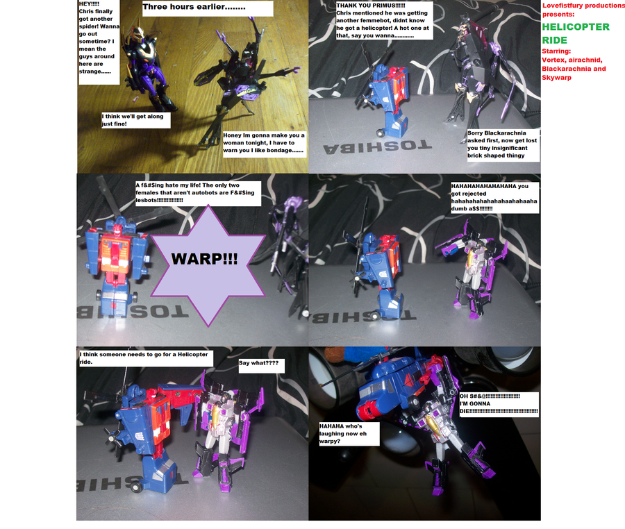 Helicopter Ride Tf Figure Comic 2 By Lovefistfury On