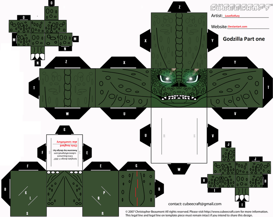 Godzilla cubee part one by lovefistfury
