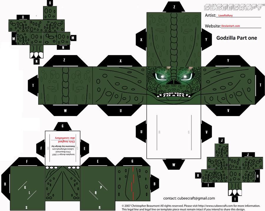 Godzilla cubee part one by lovefistfury
