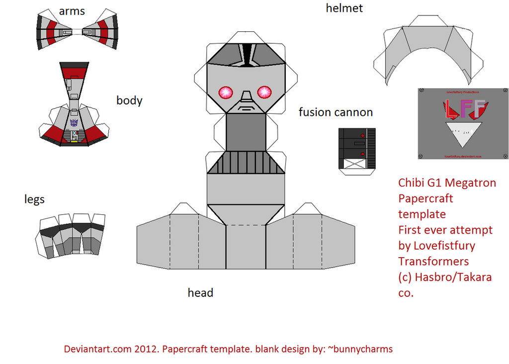 chibi G1 megatron papercraft template by lovefistfury on ...