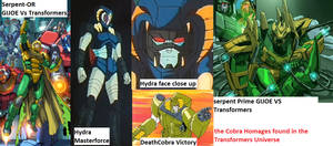 Cobra Homages in the transformers Universe
