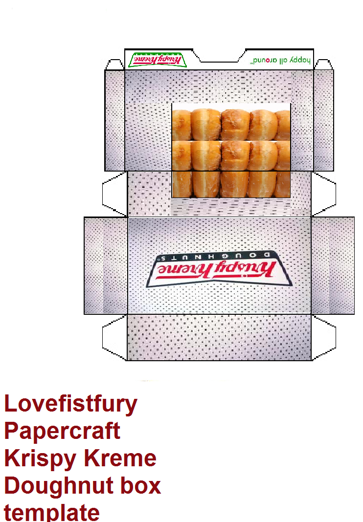 Shrunken Donuts Box Template Agcrewall
