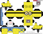 Despicable Me Minion Cubee template version 1 by lovefistfury