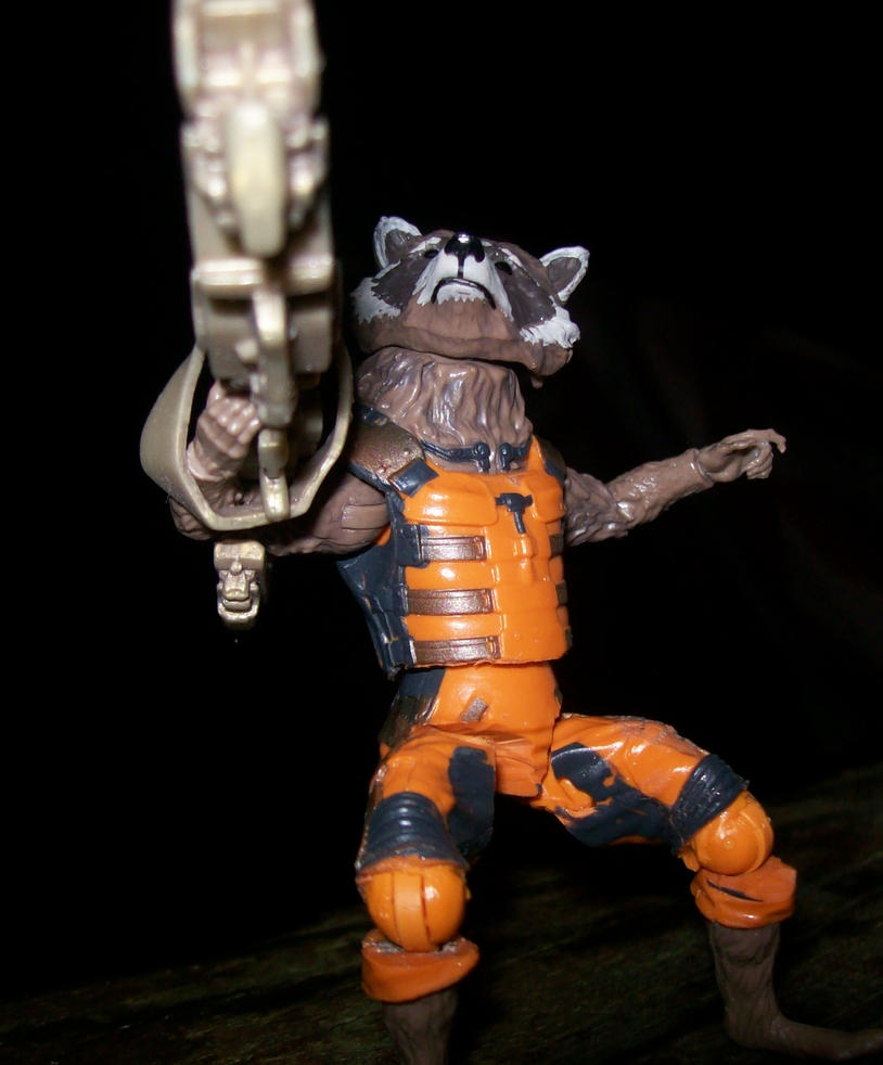marvel legends rocket racoon articulated by lovefistfury