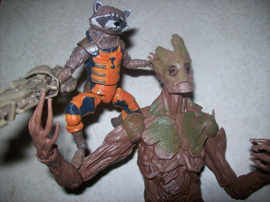 rocket and groot by lovefistfury