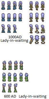 Ladies-in-waiting and Civilian by SailorPhantom