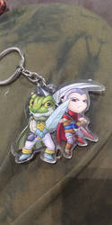 Frog and Magus key chain!! by SailorPhantom