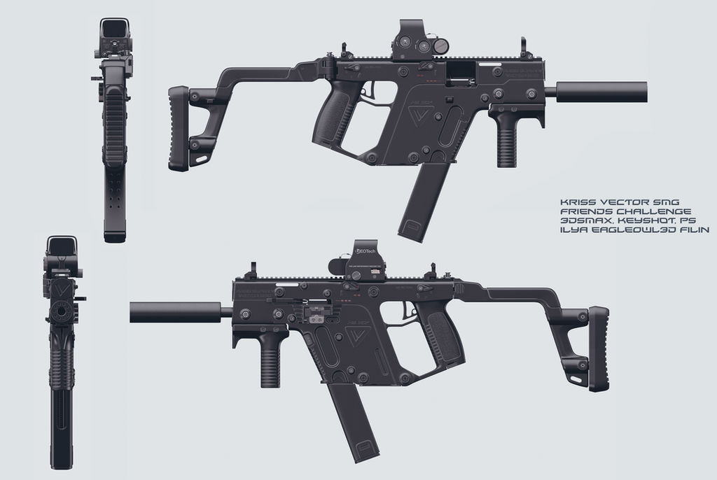 KRISS VECTOR SMG by Eagleowl3d on DeviantArt