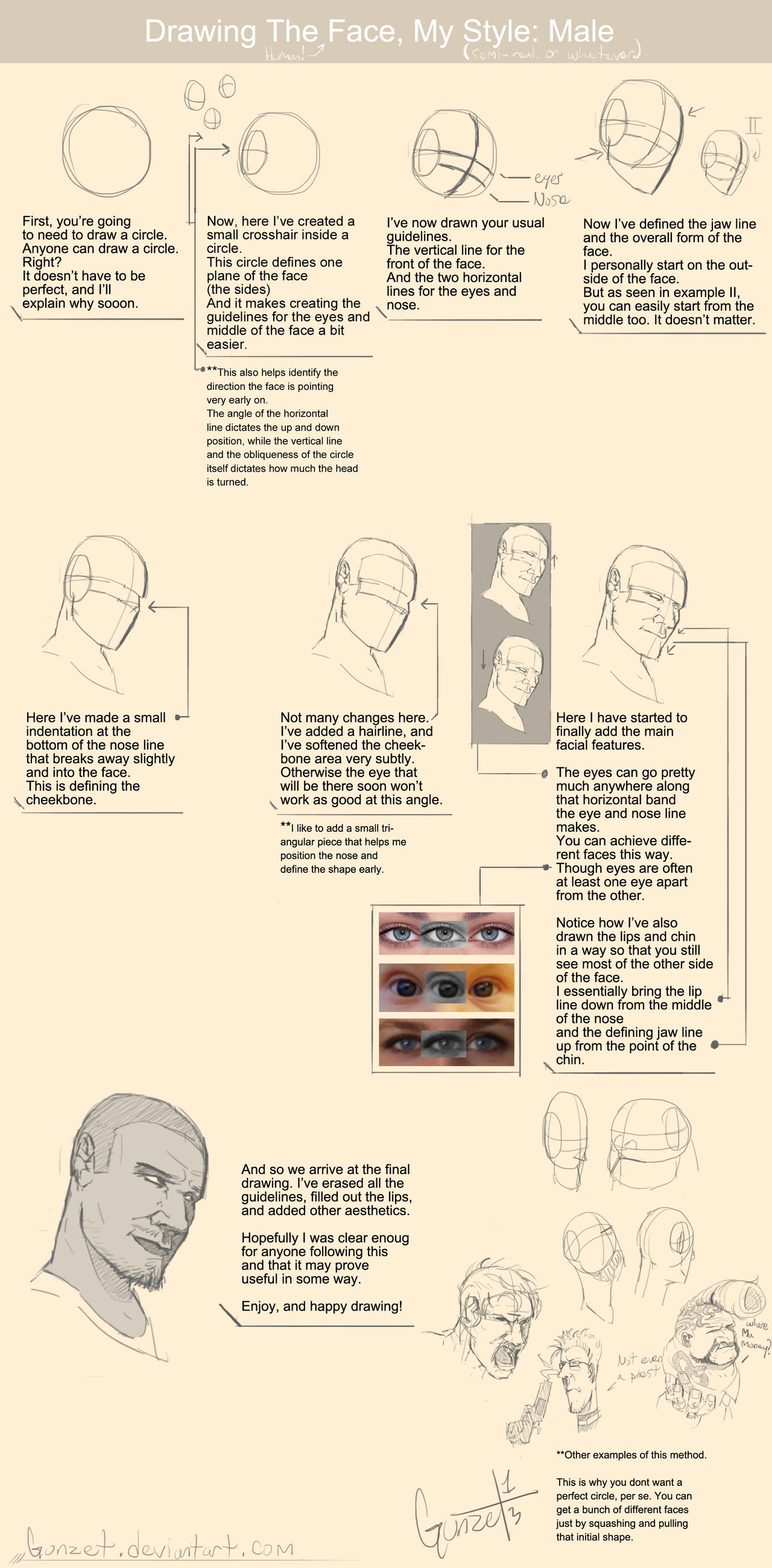 Drawing_The_Face, My_Style: Male___/Tutorial by gunzet