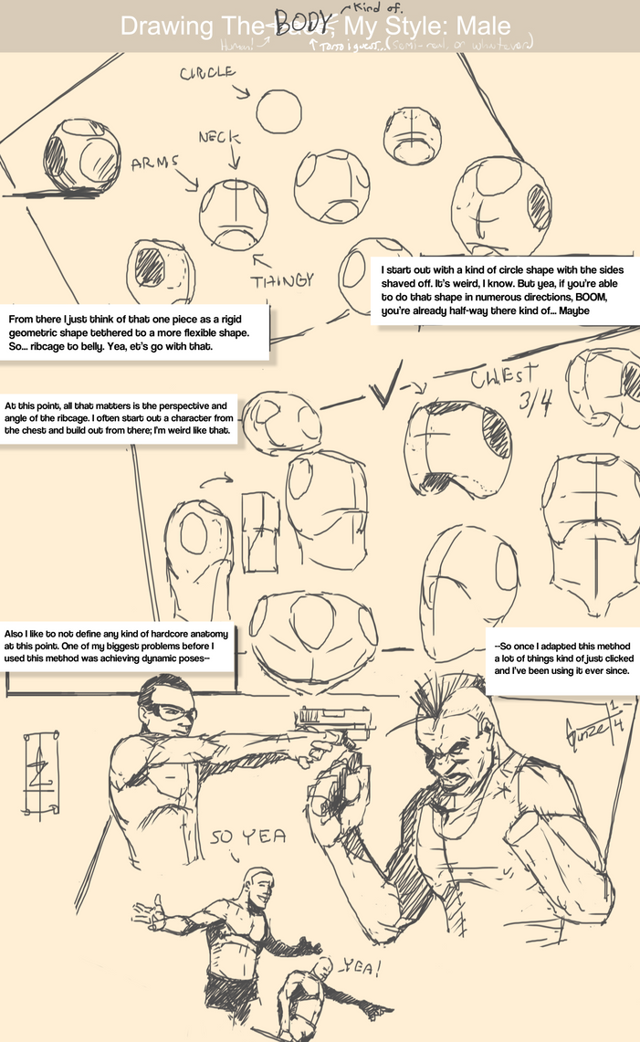 Drawing_The_Body, My_Style: Male___/1/2Tutorial by gunzet