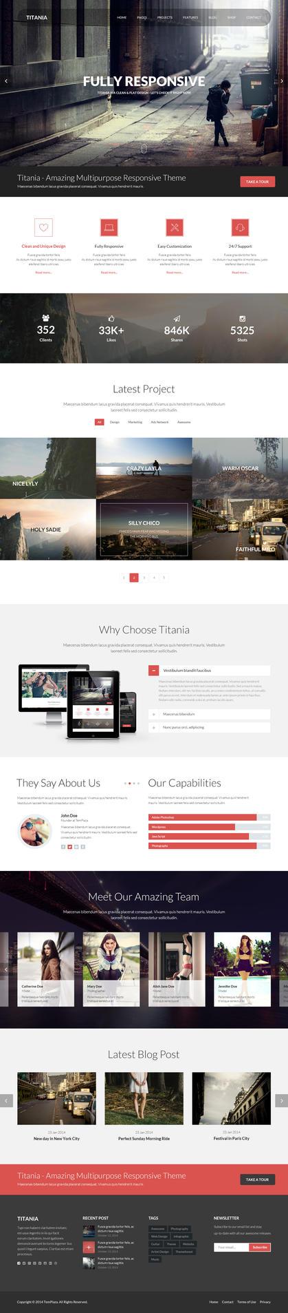 Titania - Multipurpose Theme. by templaza