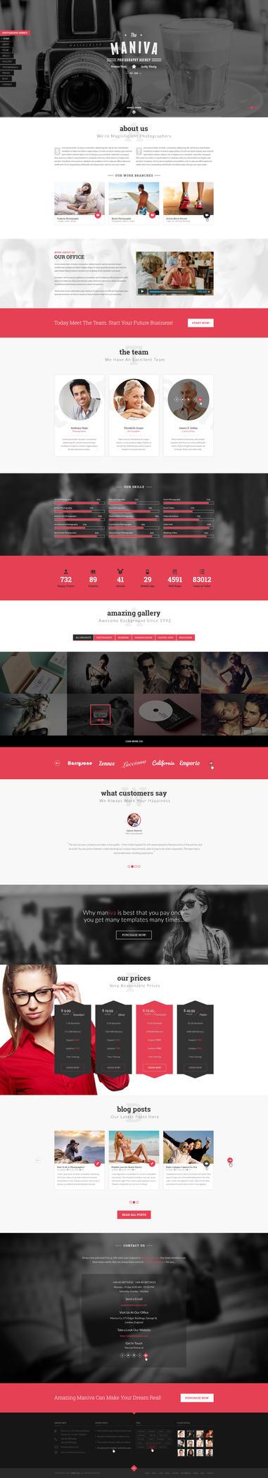 Photography Agency - Maniva WordPress Theme by templaza