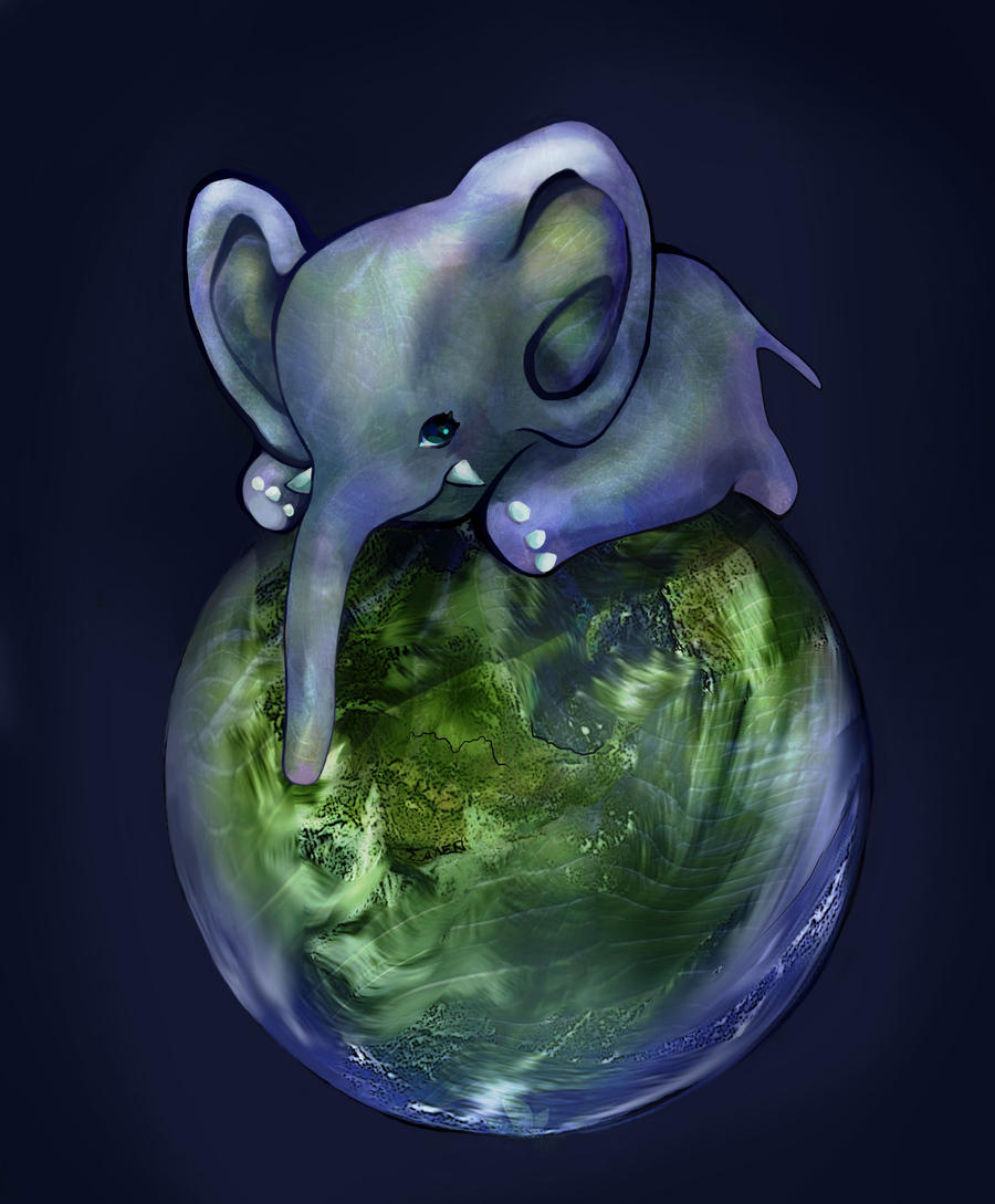 Earth Elephant by JasminSalen