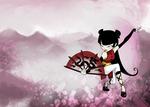 Kimiko with fan