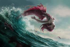Pink Mermaid by Skyrawathi