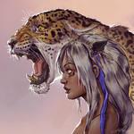 Girl meets Jaguar