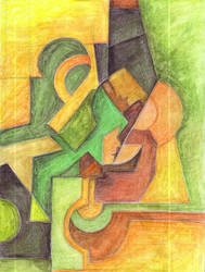Idul Fitri in Cubism