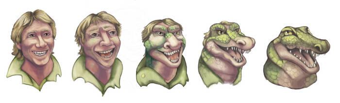 Steve Irwin into Crocodile
