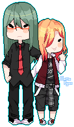 Clareel | Pixel couple by K-A0S