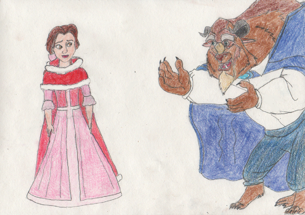 Belle turns into a Beast 1/4 by goodtimesroll44